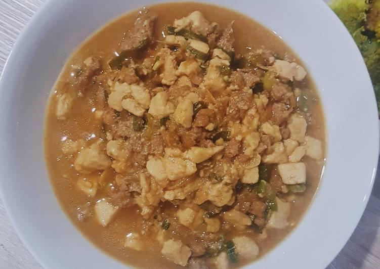 Resep Tahu Daging Kecap Minced Pork Tofu Soy Sauce Bumbu Bacang Oleh Natalia Carensa Cookpad
