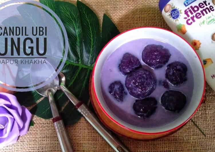 Candil ubi ungu