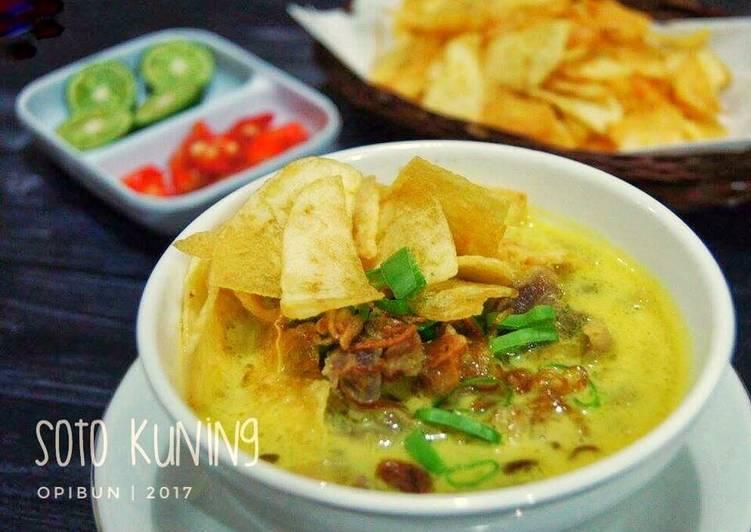 Soto Kuning khas Bogor (#PostingRame2_Soto)
