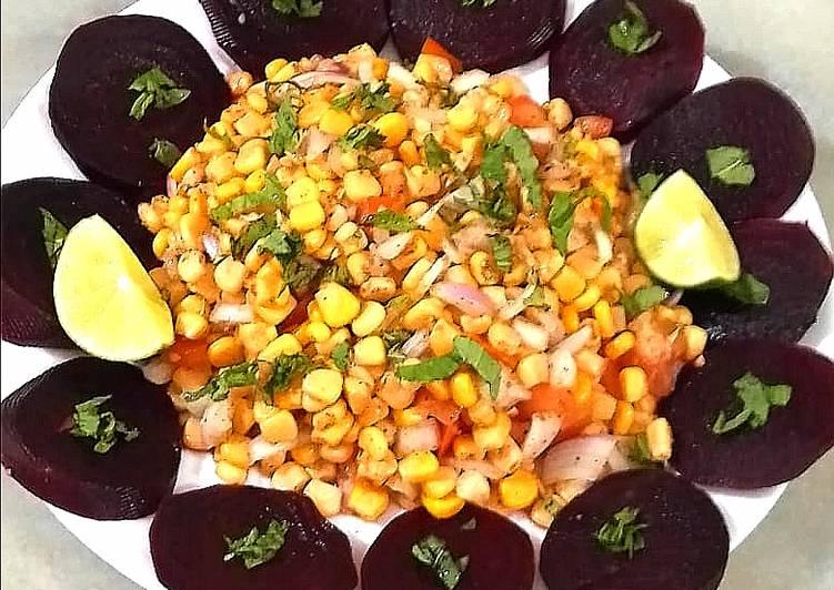 Easiest Way to Prepare Favorite Sweet corn and beet root salad