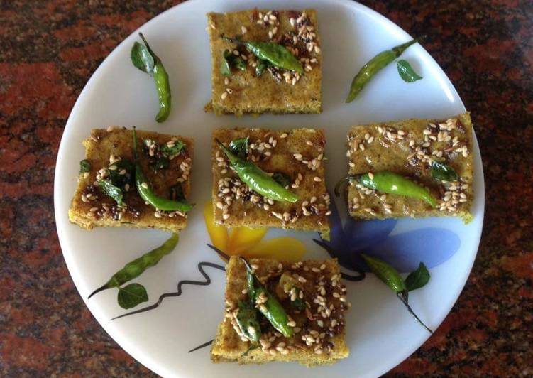Two Millets Dhokla Choosing Fast Food That's Good For You
