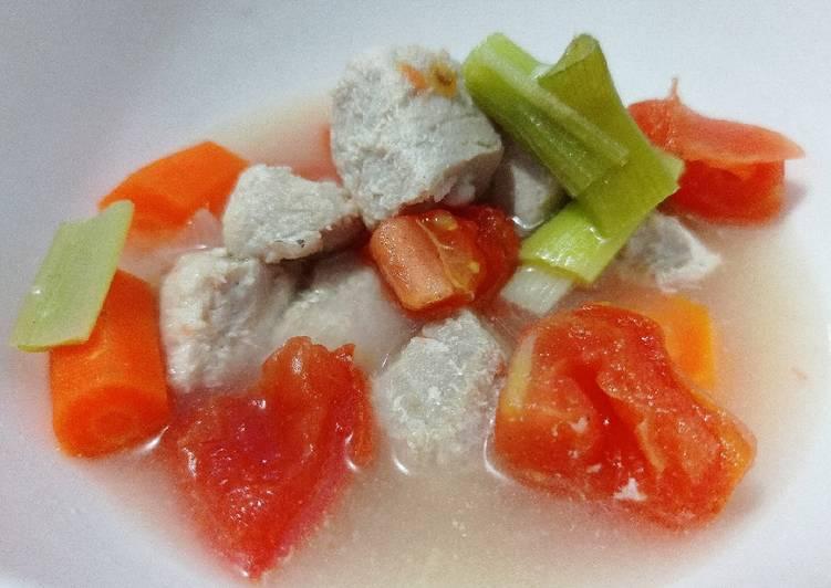 Sup Tuna Kuah Bening (menu sehat cocok u/ diet)