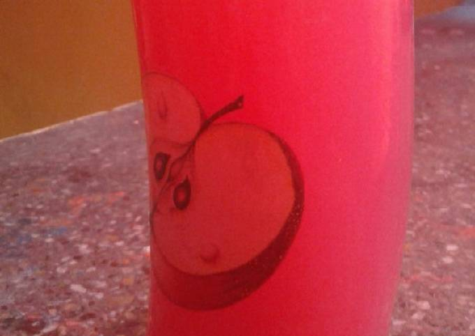 Rose mojito (rooh afza)