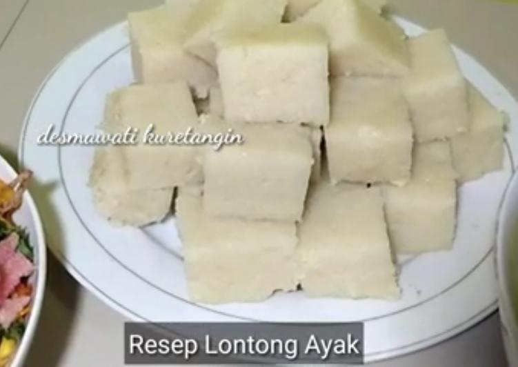 Resep Lontong Ayak Rice Cooker