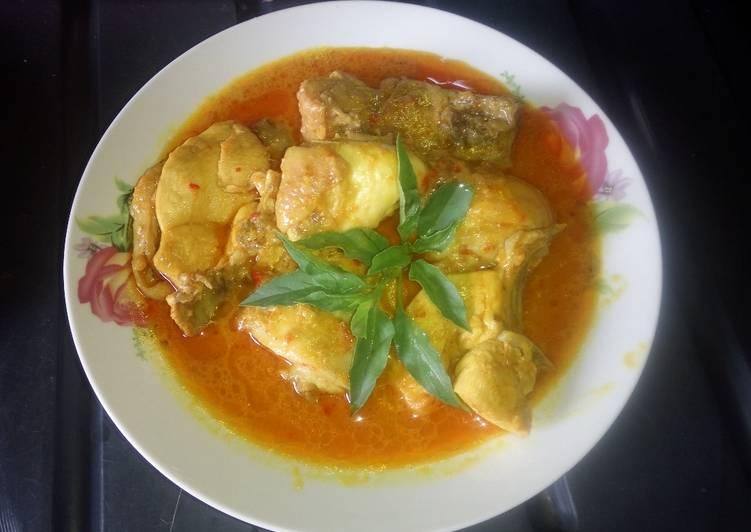 Resep Gulai ayam pedas gurih mantuulll, Lezat Sekali