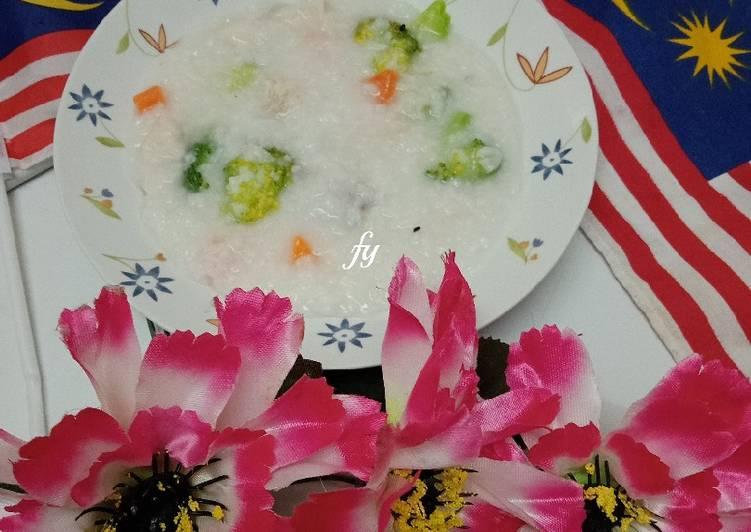 Bubur Nasi Ayam semudah ABC - resepipouler.com