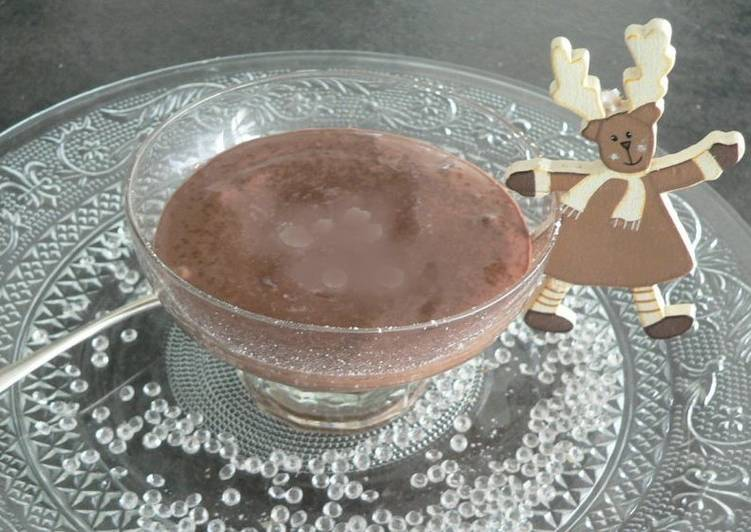 Mousse au chocolat noir,orange et Grand Marnier