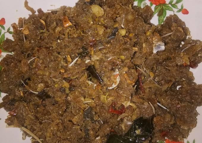 Abon ikan asin(sudang Bali/Gerang)#ikanBaronang #MasakanRumahan