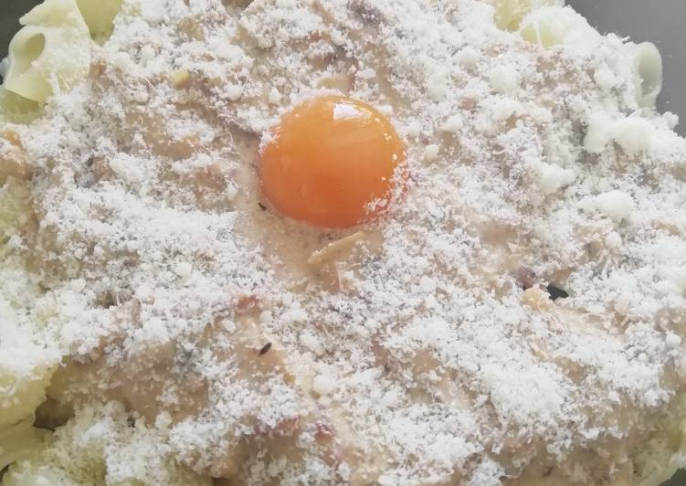 Pâtes à la sauce carbonara 🤤