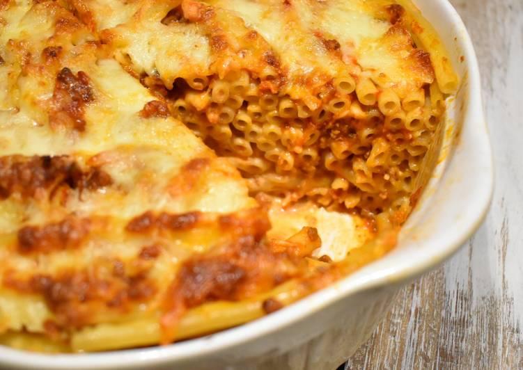 Ruckzuck Makkaroni Lasagne