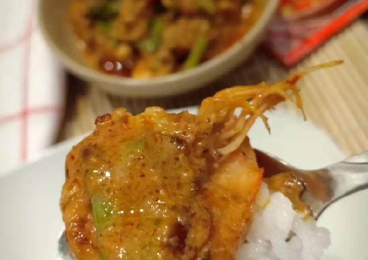 Red Curry Shrimp . Kari Udang Thai