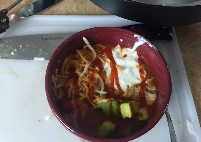 Chicken enchilada soup Instant pot IP