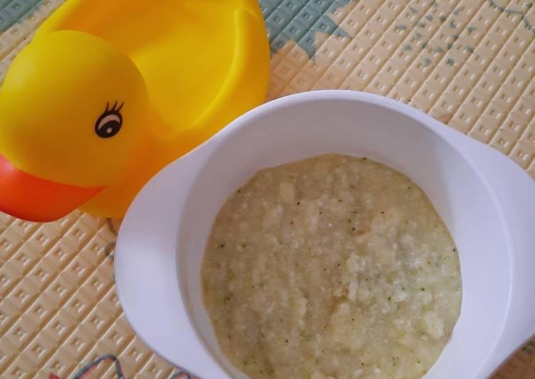 Cara membuat MPASI Bubur ayam mentega