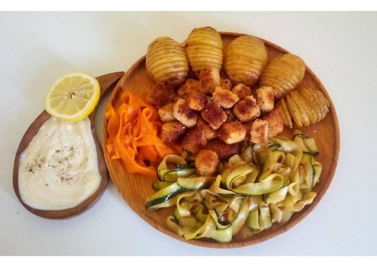 Assortiment de légumes et tofu croustillant (vegan) 🌱