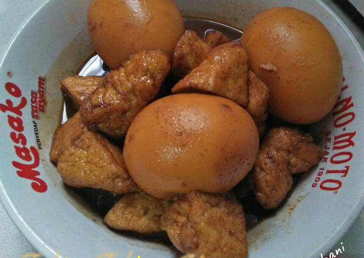 Resep Tahu Telur Kecap (taluthong), Enak