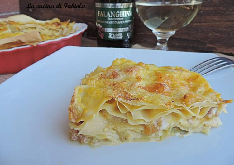 Easiest Way to Prepare Appetizing Lasagna zucca e salsiccia