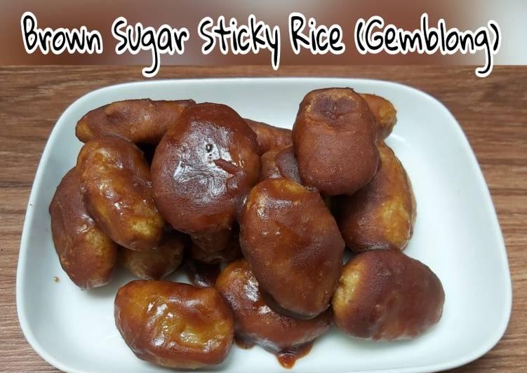 Brown Sugar Sticky Rice alias Gemblong Ketan Gula Merah 😜