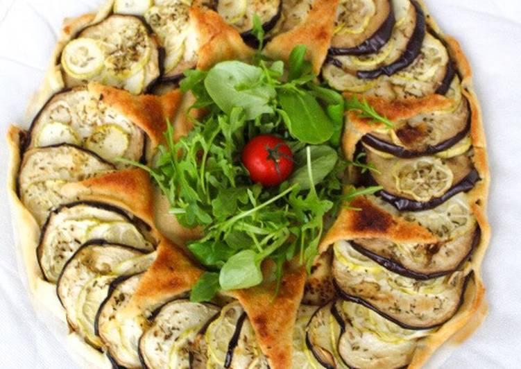Tarte aubergines/courgettes 🍆