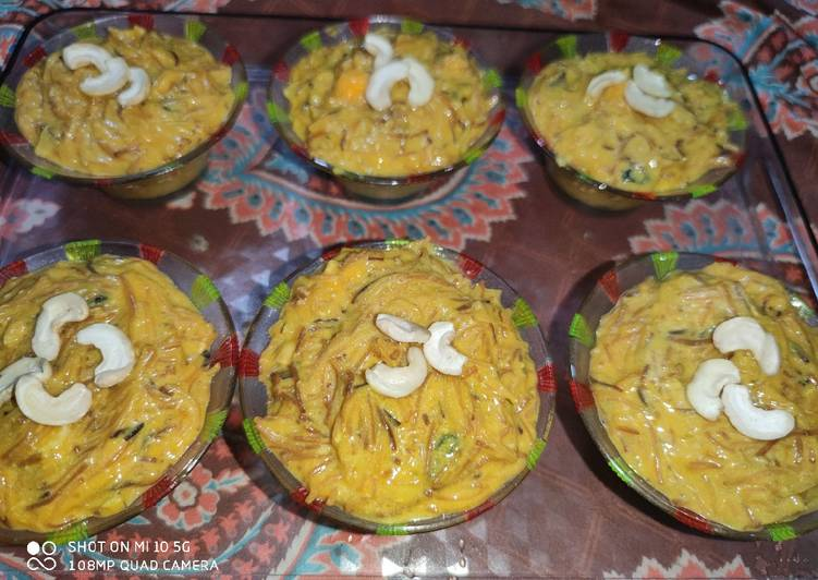 How to Cook Yummy Mango Vermicelli Dryfruit Kheer😋