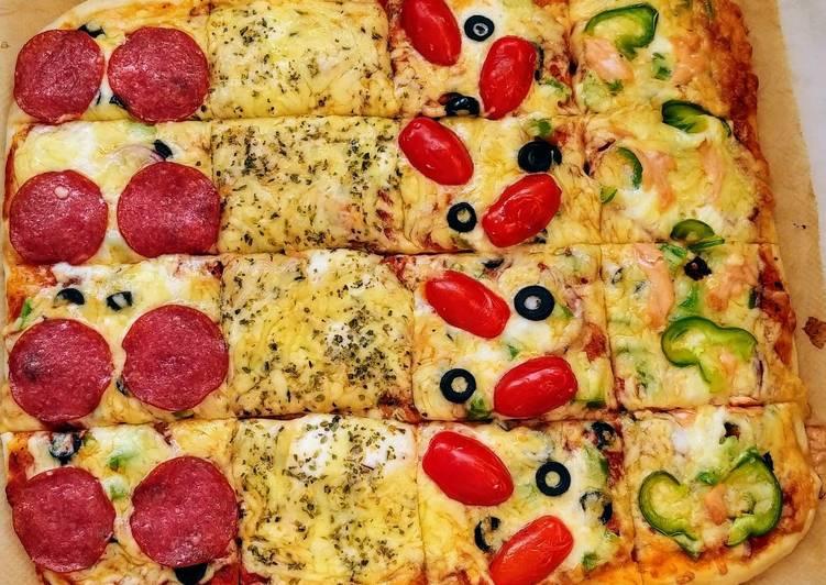 How to Prepare Homemade Pizza four seasons 😍