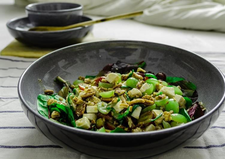 Recipe of Quick Chili Feta Grape Salad with Grape vinaigrette