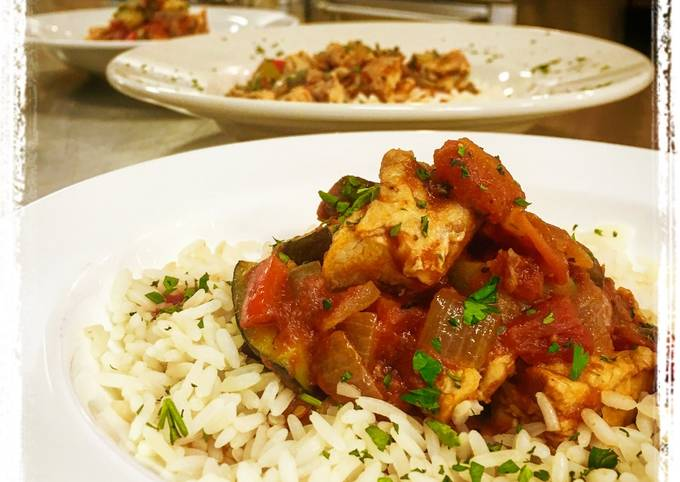 Chicken Ratatouille with Rice