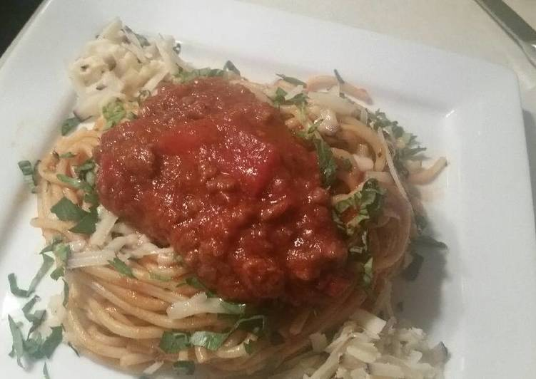 Recipe: Appetizing Merlot-Parmesean Spaghetti