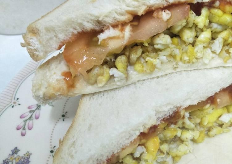 Cara Mudah Masak: Sandwich Telur Mudah  Enak