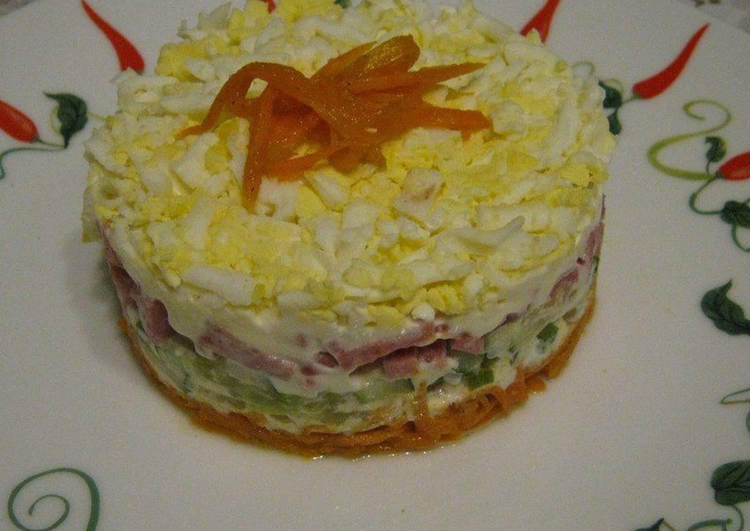 Салат порционный рецепт с фото