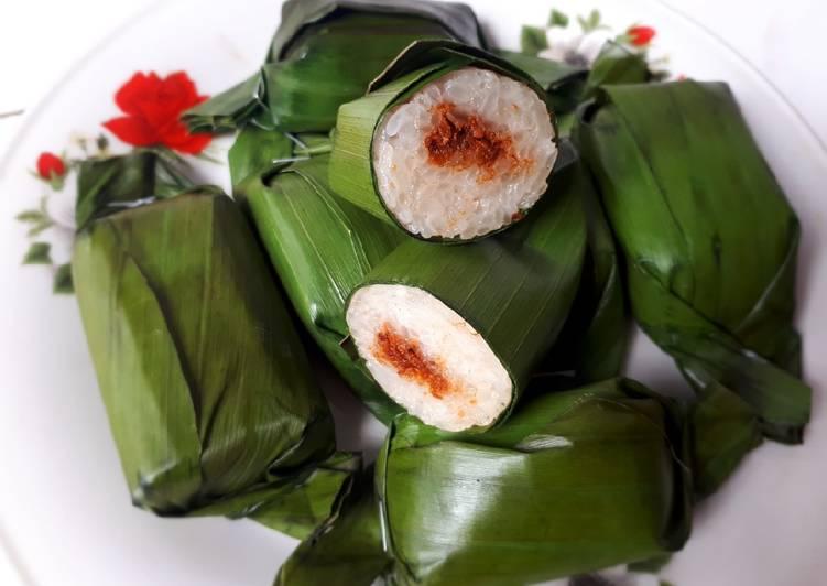 Lemper Isi Sambal Lingkung (Abon Ikan Gabus)