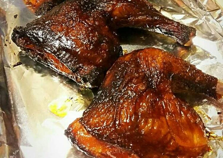 Recipe: Yummy Sweet Heat Smoked Chicken Leg Quarters