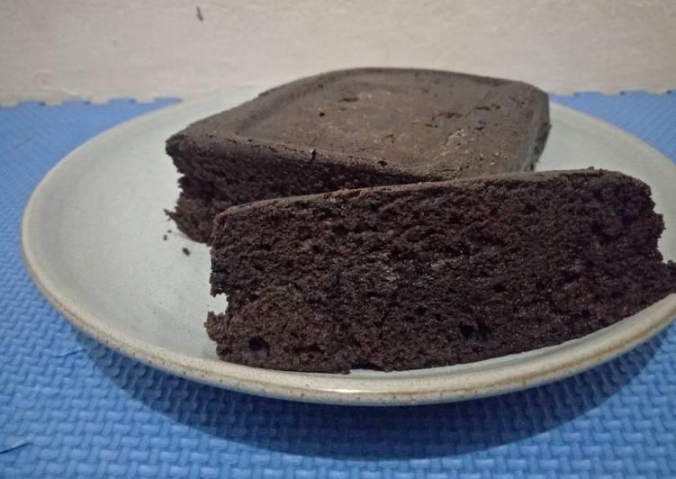 Brownies Amanda 1 telur no mixer
