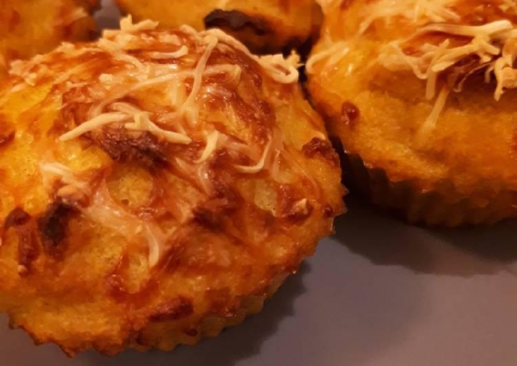 Muffins de polenta, carotte au curry