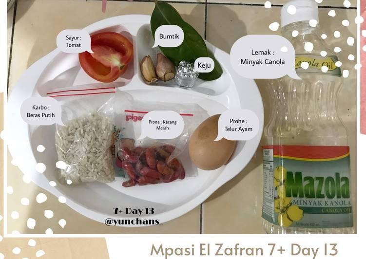 Mpasi 7+ Day 13 : Bubur Telur Kacang Merah