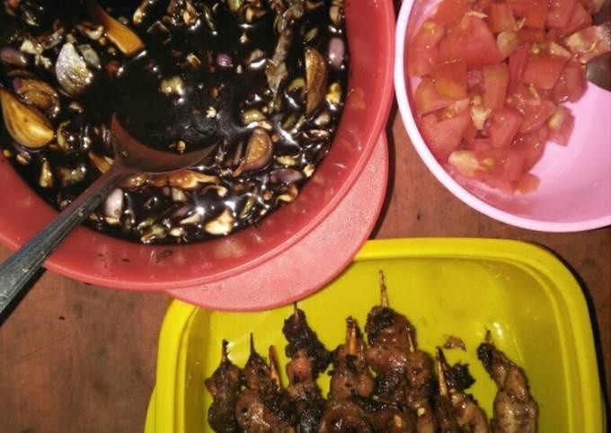 Resep Sate ayam bumbu mantab (resep keluarga), Enak Banget