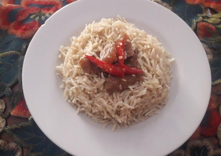 Nasi briyani ricecooker anak kostan