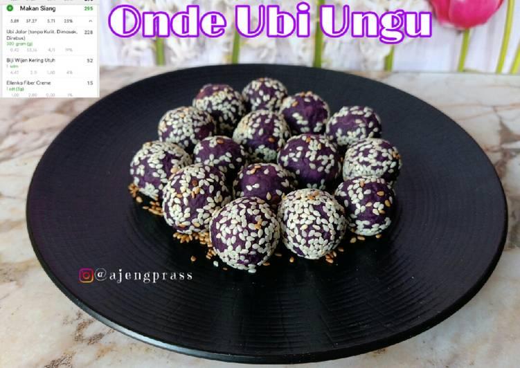 [menu diet] Onde Ubi Ungu