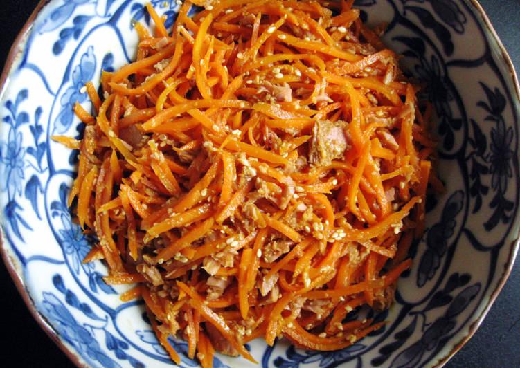 Steps to Prepare Delicious Carrot & Tuna 'Goma-ae'