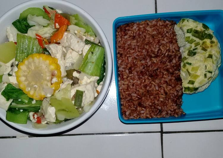 Diet Nasi merah // Tumis ruwet