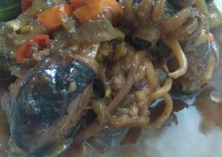 Sotong Pedas Manis (temannya Cumi seafood)