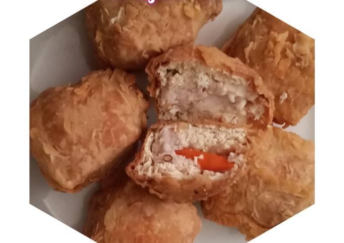 Resep Tahu crispy isi ayam cincang+cabe Sederhana dan Mudah Dibuat