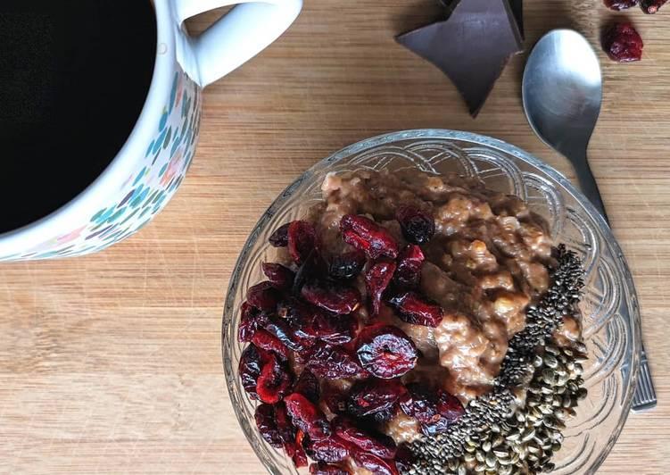 Ricetta Porridge al cioccolato