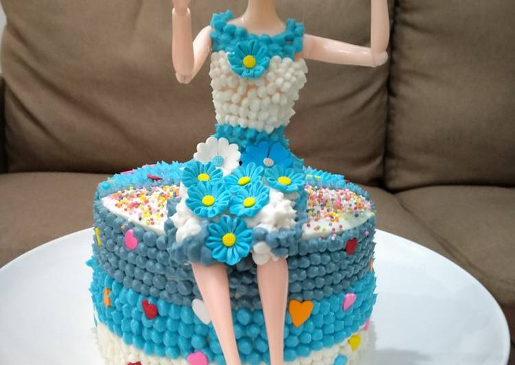 Barbie Cake - cookandrecipe.com