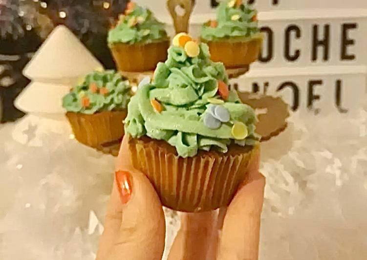 ☆Cupcakes Sapins de Noël☆