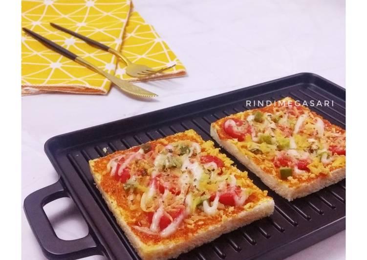 Langkah Mudah untuk Menyiapkan 272. Pizza Roti Tawar Anti Gagal
