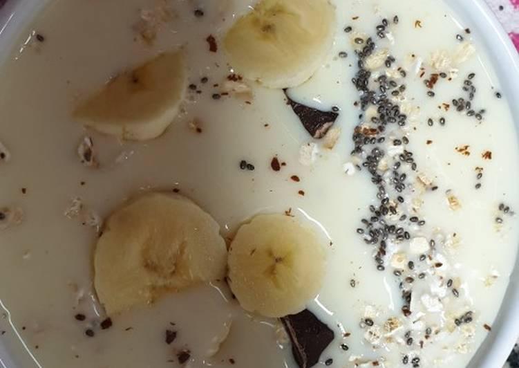 Porridge de plátano 🍌avena y chía