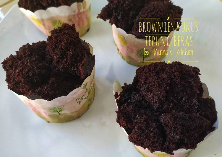 Brownies kukus tepung beras