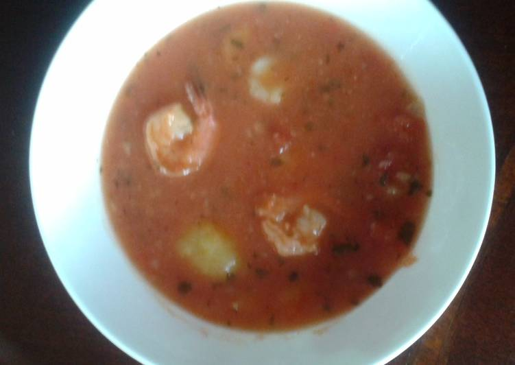 Prawn and New Potato Stew