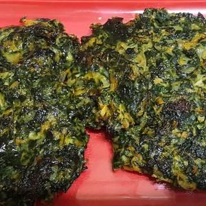 Buñuelos de acelga al horno, sin harina