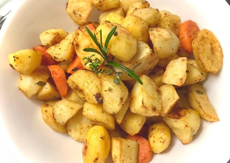 Pieczone ziemniaki z tymiankiem i rozmarynem 🌱 główne zdjęcie przepisu